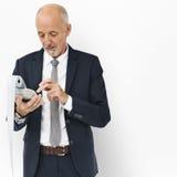 Concepto del hombre de Calculator Finance Male del hombre de negocios Fotos de archivo libres de regalías