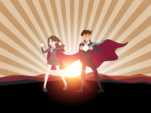 Concepto del hombre de negocios del super héroe Ilustración Imagen de archivo
