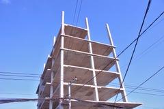 Concepto del hormigón de la base de la construcción de edificios Foto de archivo