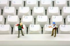 Concepto del hurto en línea el phishing y de identidad Imagen de archivo