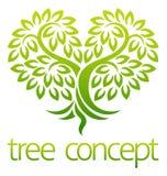 Concepto del icono del corazón del árbol stock de ilustración