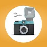 Concepto del icono de la cámara de la película stock de ilustración