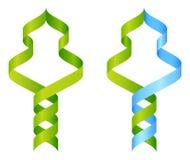 Concepto del icono de la DNA del árbol stock de ilustración