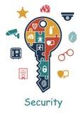 Concepto del icono de la seguridad Imagen de archivo