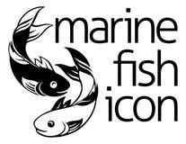 Concepto del icono de los pescados Fotografía de archivo libre de regalías