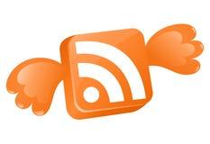Concepto del icono de RSS Fotos de archivo libres de regalías