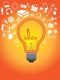 CONCEPTO DEL IDEA CON MUCHAS SILUETAS DE DIFFERNET IDEA Fotos de archivo libres de regalías