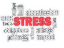 concepto del imagen 3d de stress laboral Fotografía de archivo