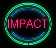 Concepto del impacto. Imágenes de archivo libres de regalías