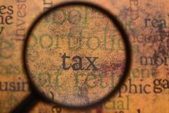 Concepto del impuesto Fotografía de archivo