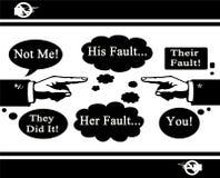 Concepto del incidente de la culpa ilustración del vector