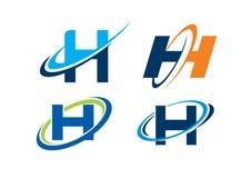 Concepto del infinito de la letra H Imagenes de archivo