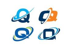 Concepto del infinito de la letra Q Fotos de archivo libres de regalías