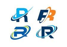 Concepto del infinito de la letra R Foto de archivo libre de regalías