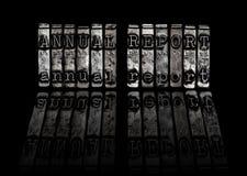 Concepto del informe anual Fotos de archivo libres de regalías