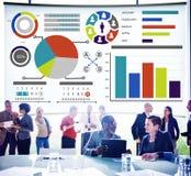 Concepto del informe de Inforgraphic de la información de datos de la carta del gráfico de barra Foto de archivo