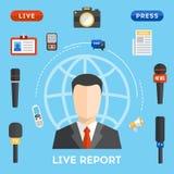 Concepto del informe vivo del vector Foto de archivo libre de regalías