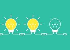 Concepto del intercambio de ideas de la idea Imagen de archivo libre de regalías