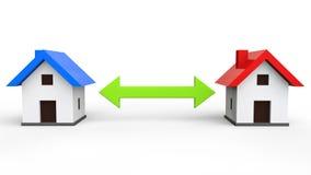 concepto del intercambio de la casa 3d stock de ilustración