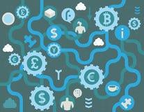Concepto del intercambio de moneda ilustración del vector