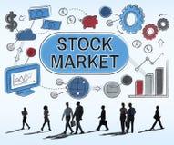 Concepto del intercambio del accionista de las finanzas de las divisas del mercado de acción Imagenes de archivo