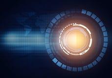 Concepto del interfaz de HUD de la tecnología de la imagen de Digitaces de realit virtual Fotos de archivo