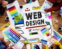 Concepto del interfaz de las ideas del estilo del desarrollo del diseño web Imagenes de archivo