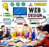 Concepto del interfaz de las ideas del estilo del desarrollo del diseño web Fotos de archivo libres de regalías