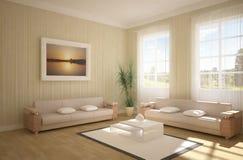 concepto del interior 3d Foto de archivo