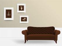 Concepto del interior de la sala de estar del vector Fotografía de archivo