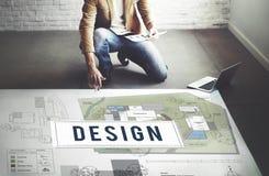 Concepto del interior del modelo de la construcción de viviendas del diseño foto de archivo