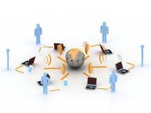 Concepto del Internet 3d Fotografía de archivo