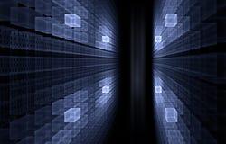 Concepto del Internet - código binario Imagen de archivo