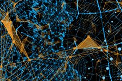 Concepto del Internet de asunto global stock de ilustración