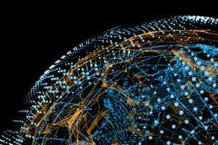 Concepto del Internet de asunto global ilustración del vector