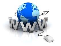 Concepto del Internet del World Wide Web Imagen de archivo libre de regalías