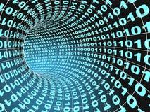 Concepto del Internet - túnel abstracto 3d Fotografía de archivo