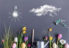 Concepto del jardín de Pascua Fotografía de archivo libre de regalías
