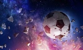 Concepto del juego de fútbol imagen de archivo