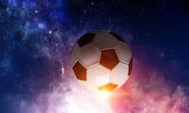 Concepto del juego de fútbol foto de archivo libre de regalías