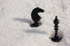 Concepto del juego de negocio Ajedrez negro Imagen de archivo libre de regalías