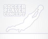 Concepto del jugador de fútbol del encargado de la meta Foto de archivo libre de regalías