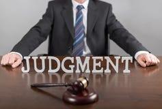 Concepto del juicio Fotografía de archivo libre de regalías