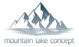 Concepto del lago mountain Imagen de archivo libre de regalías