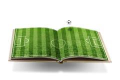 Concepto del libro del fútbol Imagen de archivo