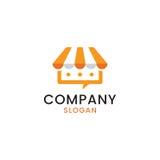 Concepto del logotipo de la charla que hace compras Imagenes de archivo