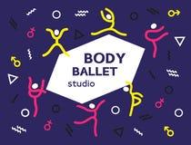 Concepto del logotipo de la danza libre illustration