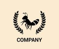 Concepto 5 del logotipo de la hormiga del vintage Fotografía de archivo libre de regalías