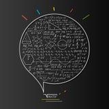 Concepto del logotipo de la matemáticas Foto de archivo libre de regalías