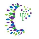 Concepto del logotipo de la psicología y de la salud mental Fotos de archivo libres de regalías
